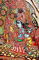 Paintings of Lord Krishna, Radha on a clth