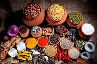 Variety of spices