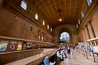 Interior, Great Hall, Union Station, Toronto, Ontario, Canada, North America