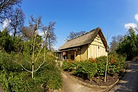 Japanese Minka House, Royal Botanic Gardens, Kew, UNESCO World Heritage Site, London, England, United Kingdom, Europe