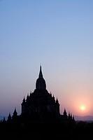 Sulamani Pahto at sunset, Bagan Pagan, Myanmar Burma, Asia