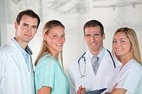 Closeup of medical team