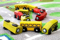 assorted color toy cars
