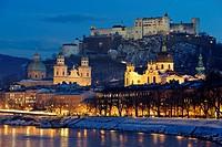 Altstadt Salzburg an der Salzach in Austria