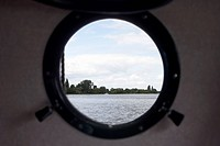 View through a porthole