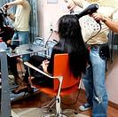 The hairdresser for work