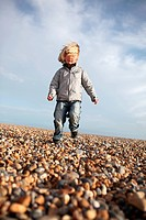 child running beach feedom