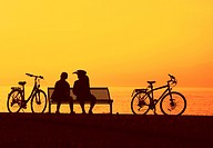 Two cyclist relaxing