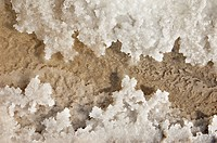 Crystallized salt