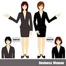 Business woman set