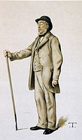 John Bennet Lawes 1814_1900, British agriculturalist and chemist, in a caricature published in the British weekly magazine Vanity Fair in 1882. Lawes ...