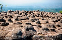 Lan Hin Pum, Thailand, Rocky ground button that occurs naturally