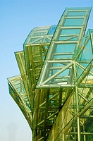 Abstract of green glass