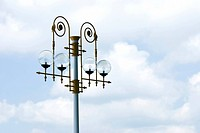 Art decoration streetlamps with cloudy sky