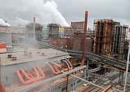 Zinc factory. Photographed in Chelyabinsk, Russia.