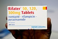 Tuberculosis TB drug. This is the drug Rifater, which contains the antibiotics rifampicin, isoniazid and pyrazinamide. TB is an infection by the bacte...