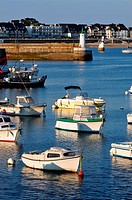 Port Maria at Quiberon in the Morbihan department in Brittany in north_western F