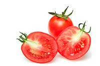 The cut tomatoes
