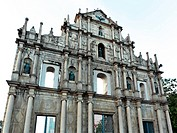 facade of St Paul´s, Ruins of St Paul´s, Macau