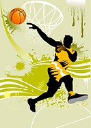 background basketball player