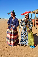 Women of Herero tribe. Kaokoveld Kaokoland, Namibia