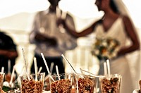 snacks at the aperitif of an Italian wedding