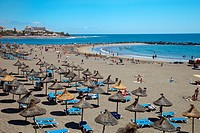 Playa de Las Americas, Beach, Tenerife, Canary Islands, Spain.