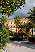 Italian villa and park