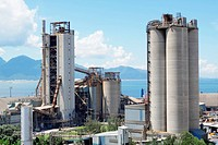 Cement Plant,Concrete or cement factory, heavy industry or construction industry