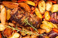 Lamb roast with potato