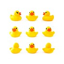 rubber yellow duck isolated on white