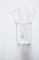 Medical still of laboratory glassware.