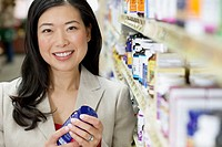 Woman shopping in a drug store.