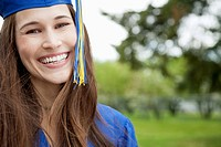 Portrait of pretty, female graduate.