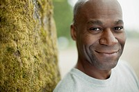 Portrait of mature black American man