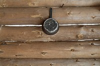 Appalachian Trail _ A pot hangs on the wall of Moose Mountain Shelter . This shelter is a Adirondack_style shelter and sleeps 8 hikers. Located on the...