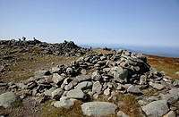 Appalachian Trail...The summit of Mount Moosilauke during the summer months...Located in the White Mountains, New Hampshire USA