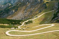 Mountain Landscape with Winding Trail