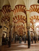 Interior of Great Mosque, Cordoba, Andalucia, Spain.