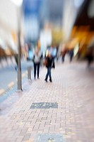 Street life _ illustrative, blurred image