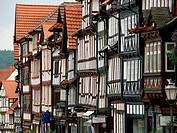Malerische Fachwerk_Innenstadt von Bad Sooden_Allendorf, Nordhessen, Marktstraße, half_timbered buildings in the small town of Bad Sooden_Allendorf, H...