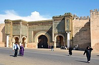 meknes Morocco Bab Mansour gate