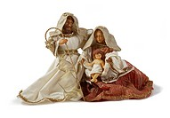 Christmas Nativity scene. Holy family