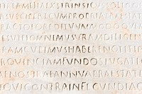 closeup of ancient latin text