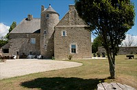 Manor house ,in La Louverie village, Cotentin, Normandy, France