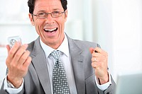 happy businessman close_up