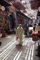 Souk in the medina of Marrakesh, Morocco