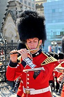 Band plays at the changing of the honor guard on Parliment Hill Ottawa Ontario Canada National Capital City