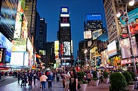 Night view of Times Square, Manhattan, New York, USA