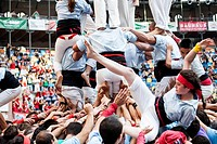 ´Tarragona, Spain, october 6 and 7 2012  Contest XXIV Castellers human towers  The castellers are UNESCO World Heritage ´